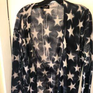Star patterned cardigan